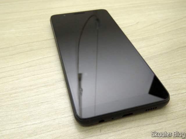 Smartphone Samsung Galaxy A01 Core 32GB Preto - Processador Quad-Core 2GB RAM Câm.8MP + Selfie 5MP.