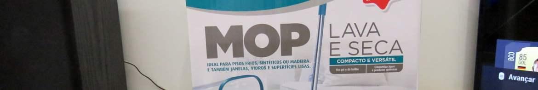 Mop Lava e Seca, MOP7740, Flash Limp, em sua embalagem.