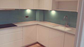 Blue glass splashback November