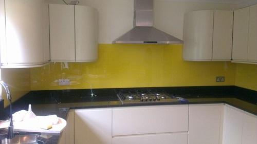 yellow specialist splashbacks