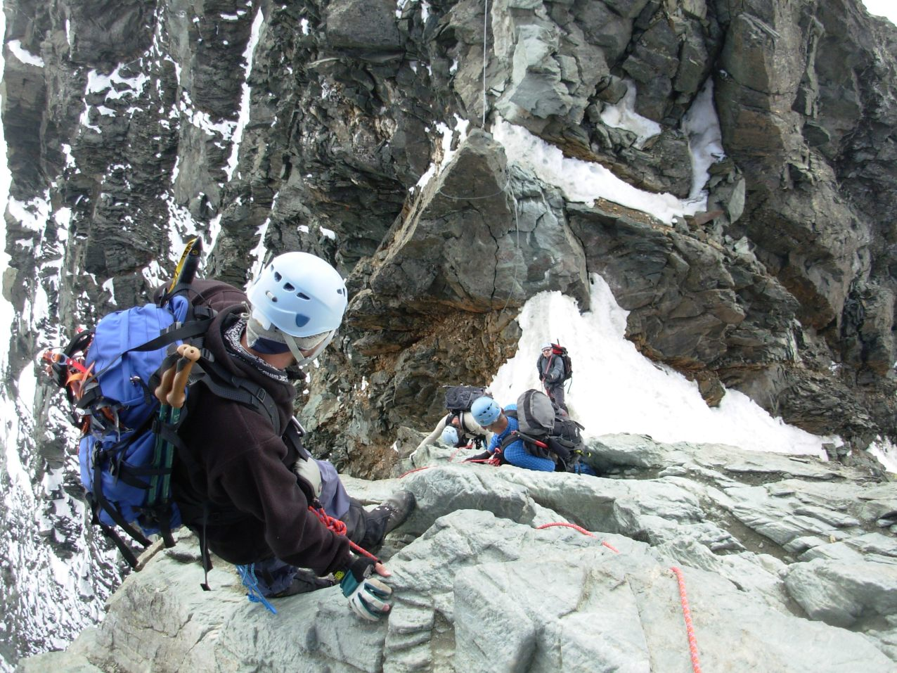 Zejście na Kleinglocknera 3770m