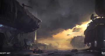Halo 5 Guardians Skirmish at Darkstar Concept Art