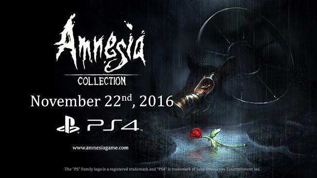 الاعلان عن مجموعة لسلسلة Amnesia للـPlaystation 4