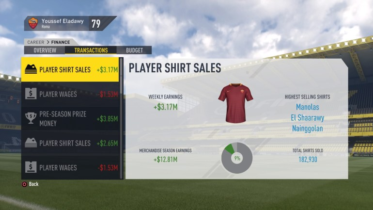 FIFA 17 Career (In Menus)