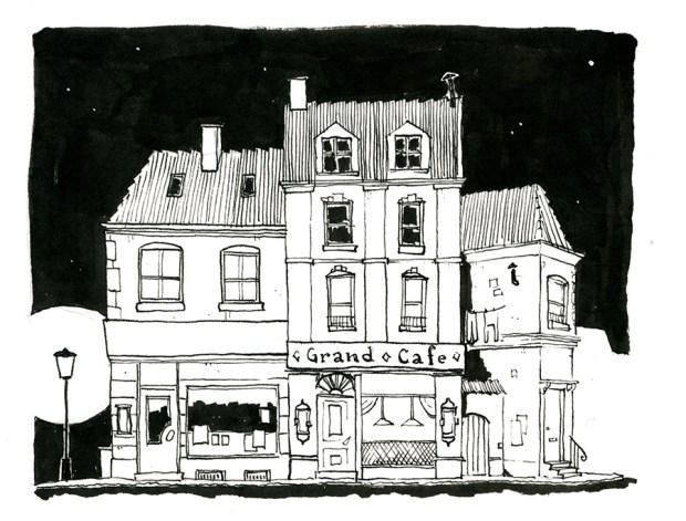 cafe gade illustration københavn