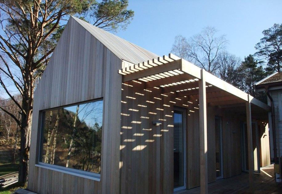 Oppføring av ny hytte og rehabilitering av gammel hytte på Ådnøy.