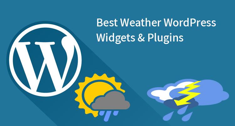 Best Weather WordPress Widgets And Plugins
