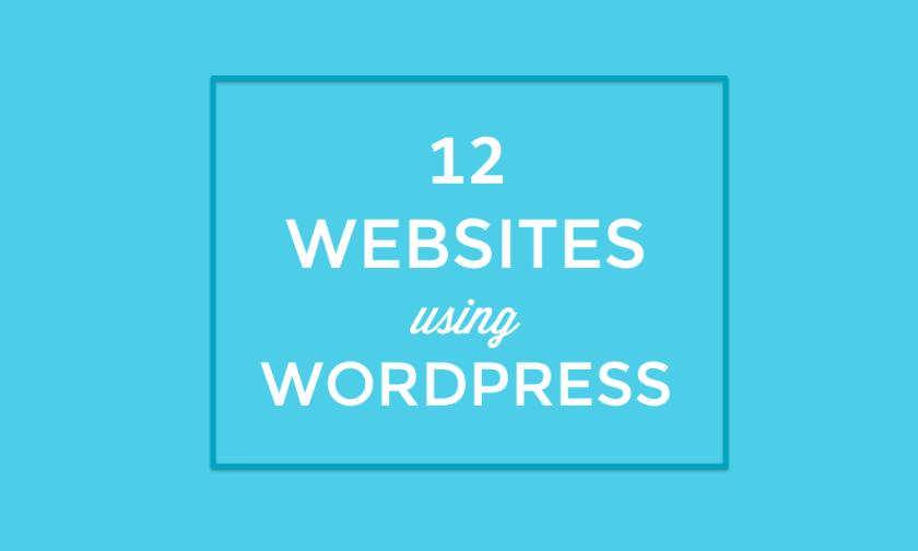 Websites Using WordPress