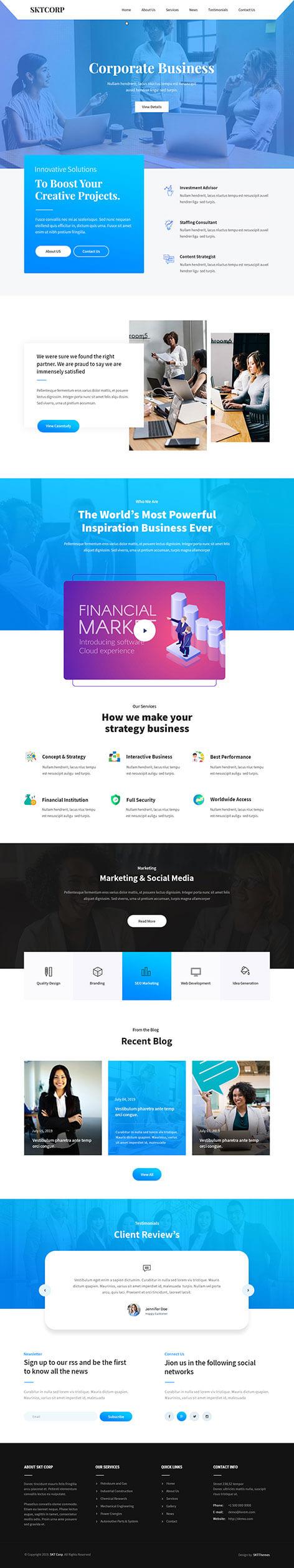 Company website WordPress theme