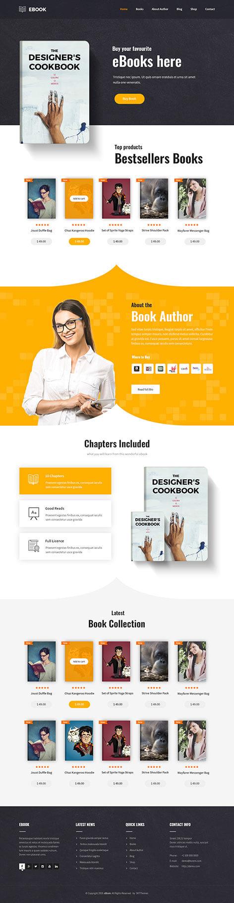 Book Author WordPress Theme