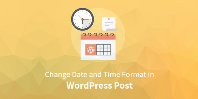 change date format in WordPress post