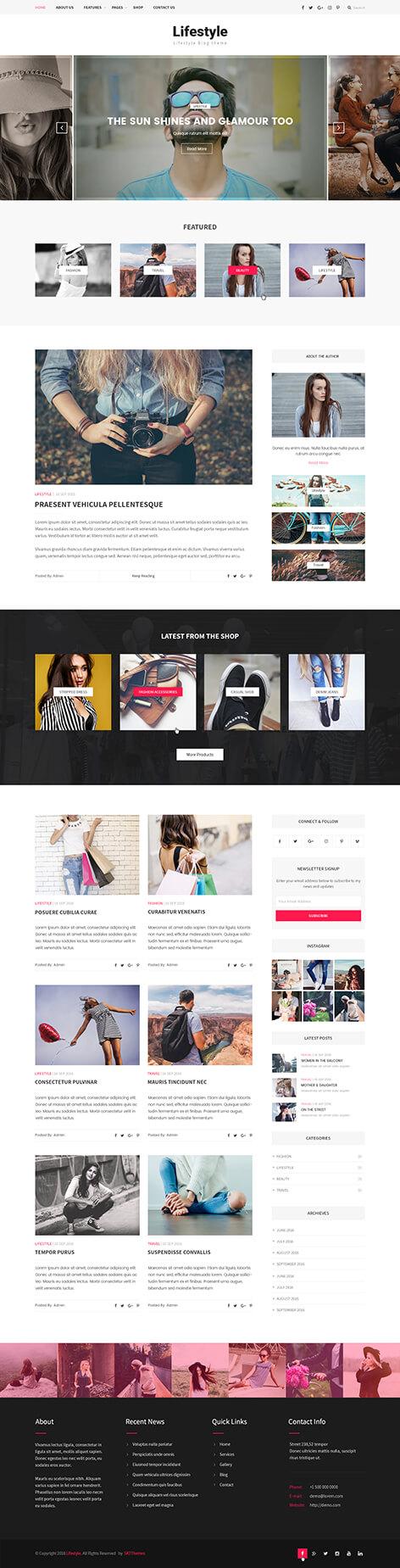 lifestyle blog WordPress theme