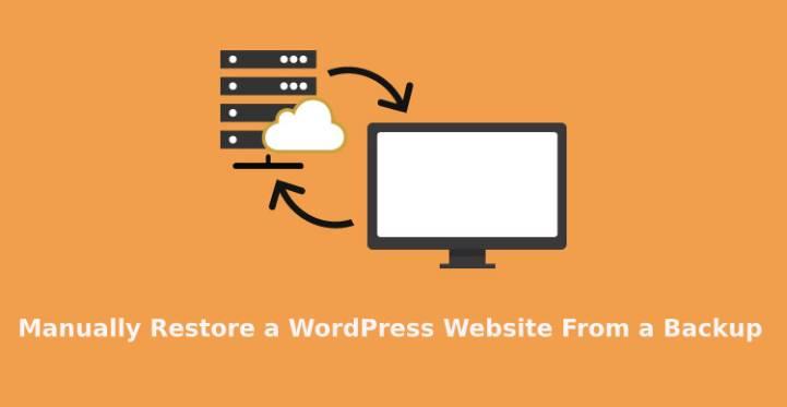 manually restore a WordPress website
