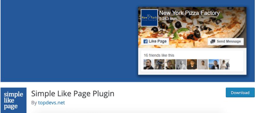 Simple Like Page Plugin