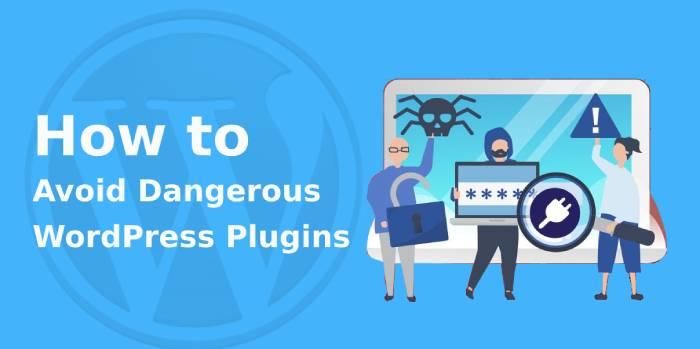 Avoid Dangerous WordPress Plugins