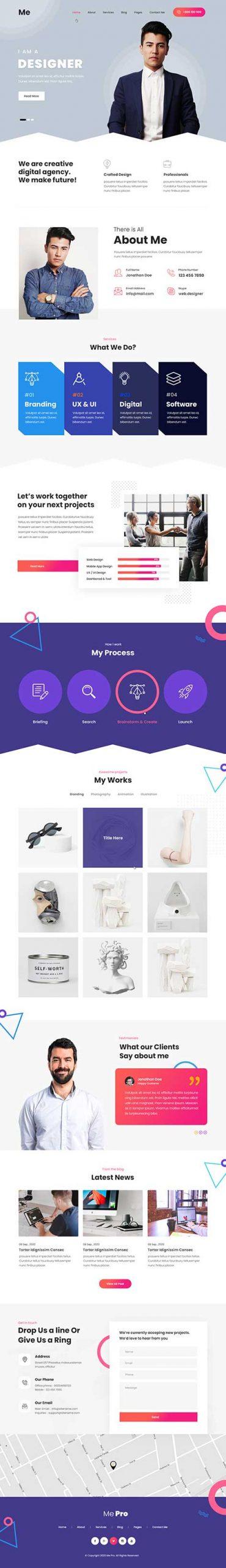 resume WordPress theme