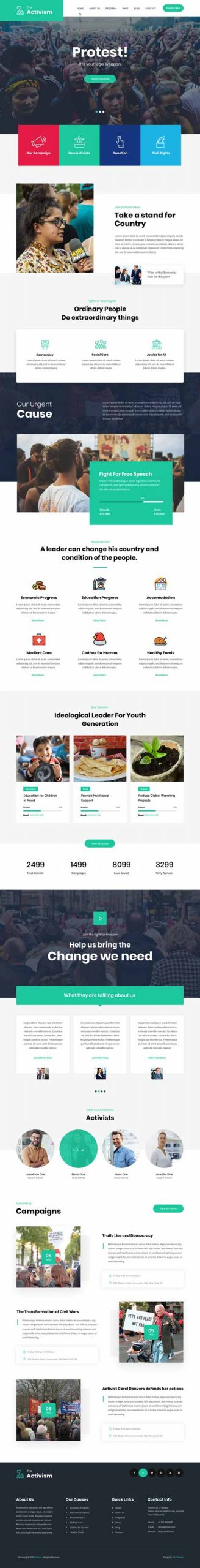 social activity WordPress theme