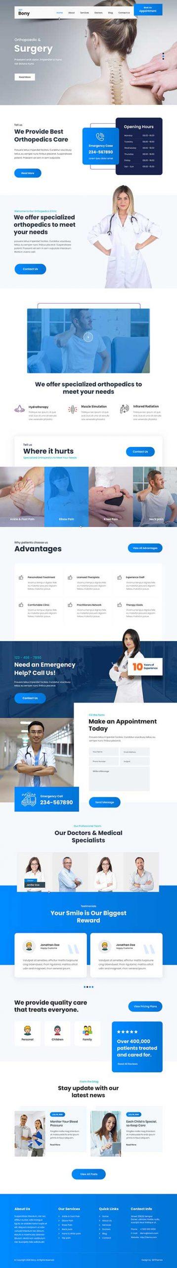 Orthopedic WordPress theme