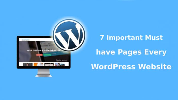 must have pages WordPress website
