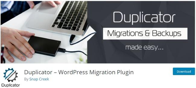 duplicator wordpres plugin