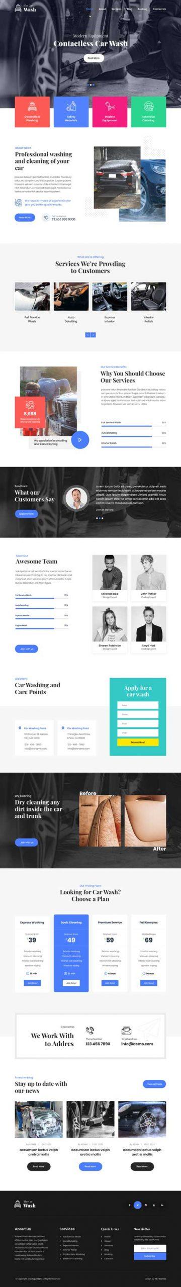 auto spa WordPress theme