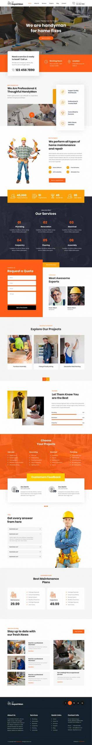 appliance repair WordPress theme