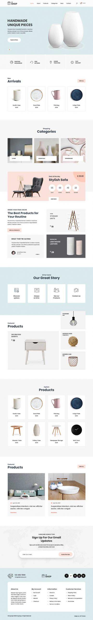 shopping cart WordPress theme