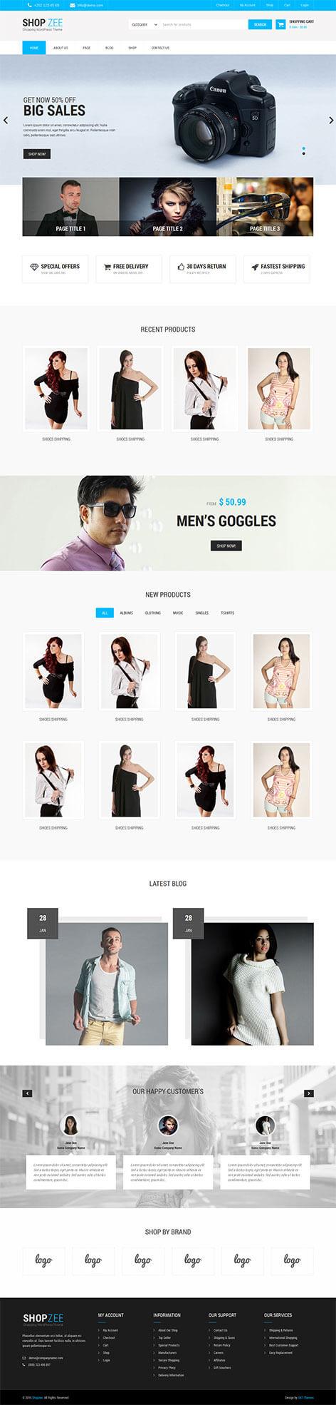 ecommerce WordPress theme