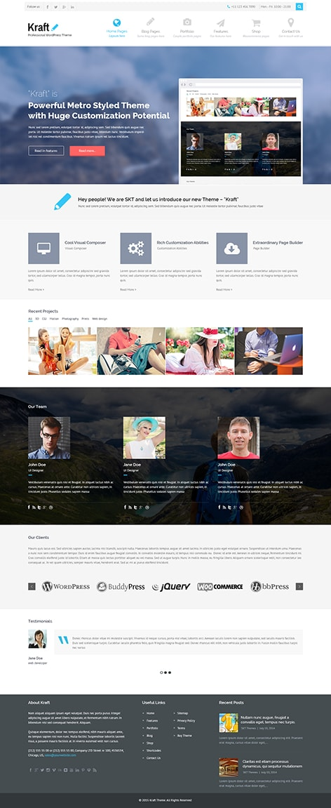Kraft premium WordPress theme