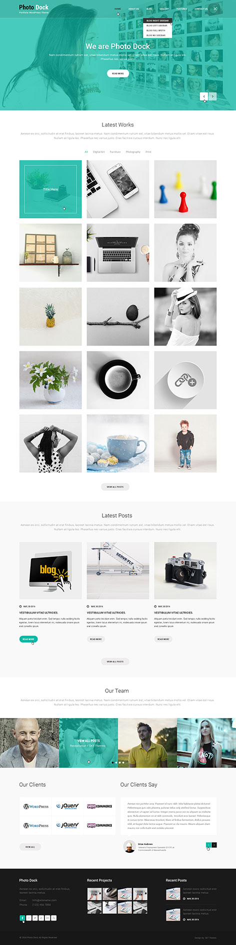 best responsive Portfolio WordPress theme