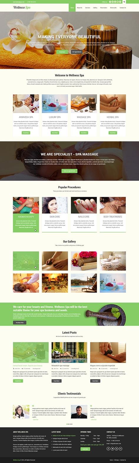 massage spa WordPress theme