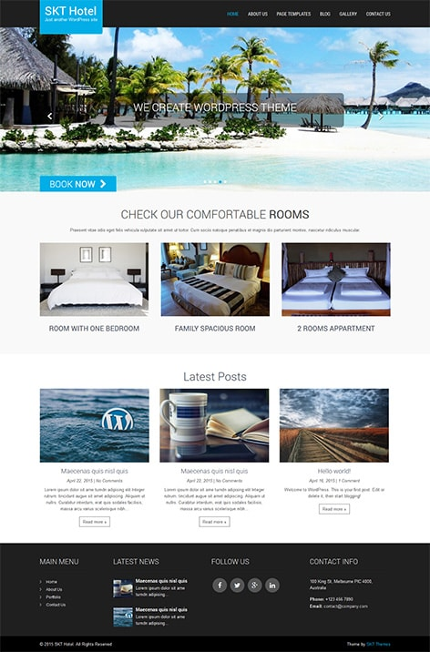 hotel free WordPress theme