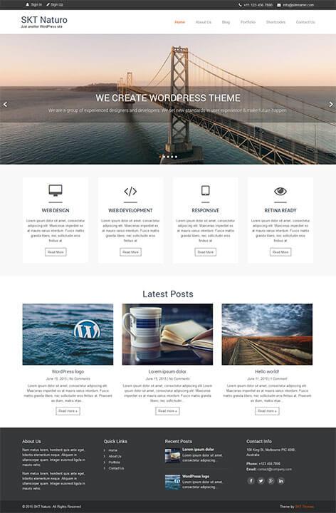 free minimal responsive WordPress theme