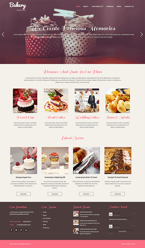 free responsive bakery WordPress theme
