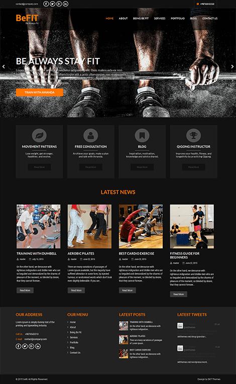 free personal trainer WordPress theme