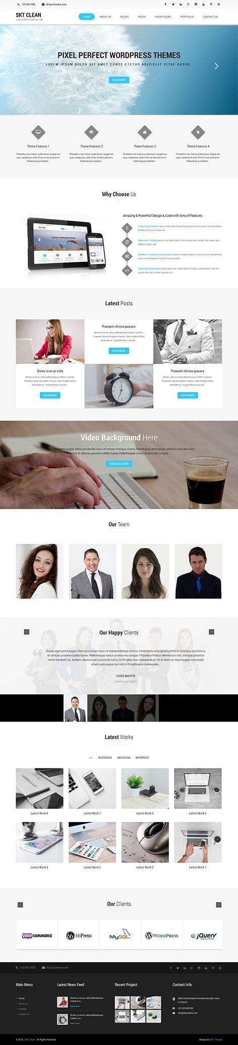clean multipurpose WordPress theme