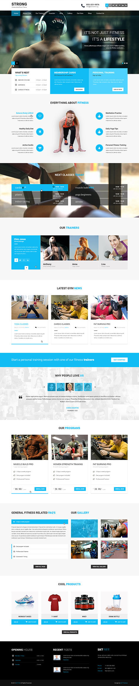 crossfit wordpress theme