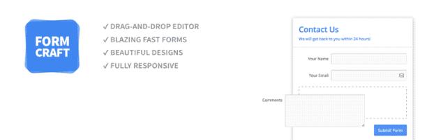 FormCraft WordPress plugin