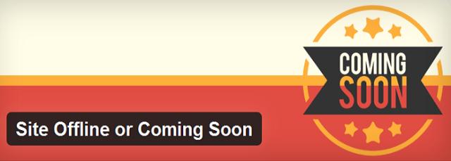 Site Offline or Coming Soon WordPress