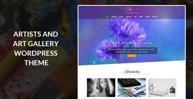 art gallery and antique WordPress theme
