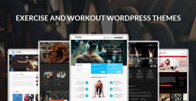 exercise workout WordPress themes