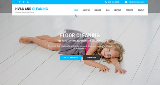 HVAC and cleaning WordPress theme