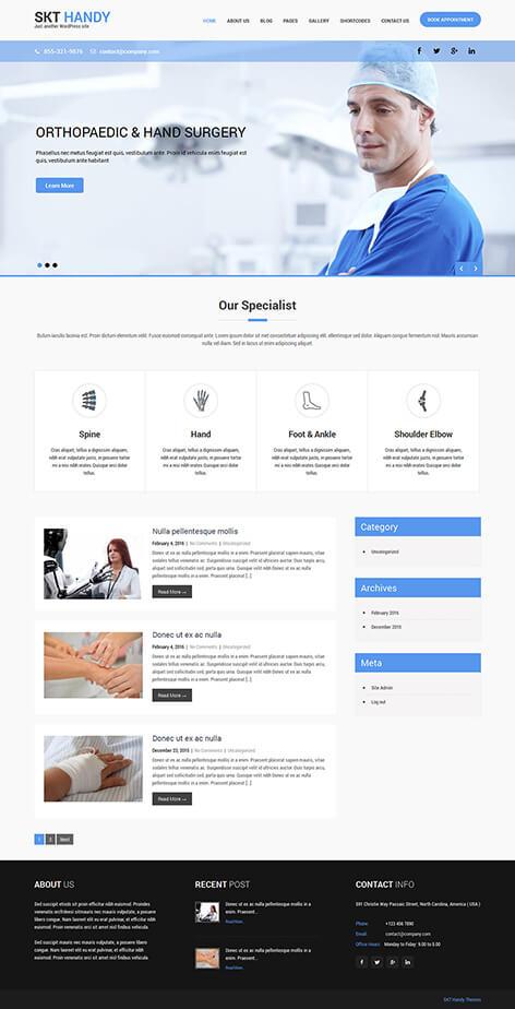 free doctor WordPress theme