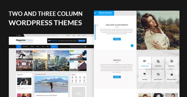 two column three column WordPress themes