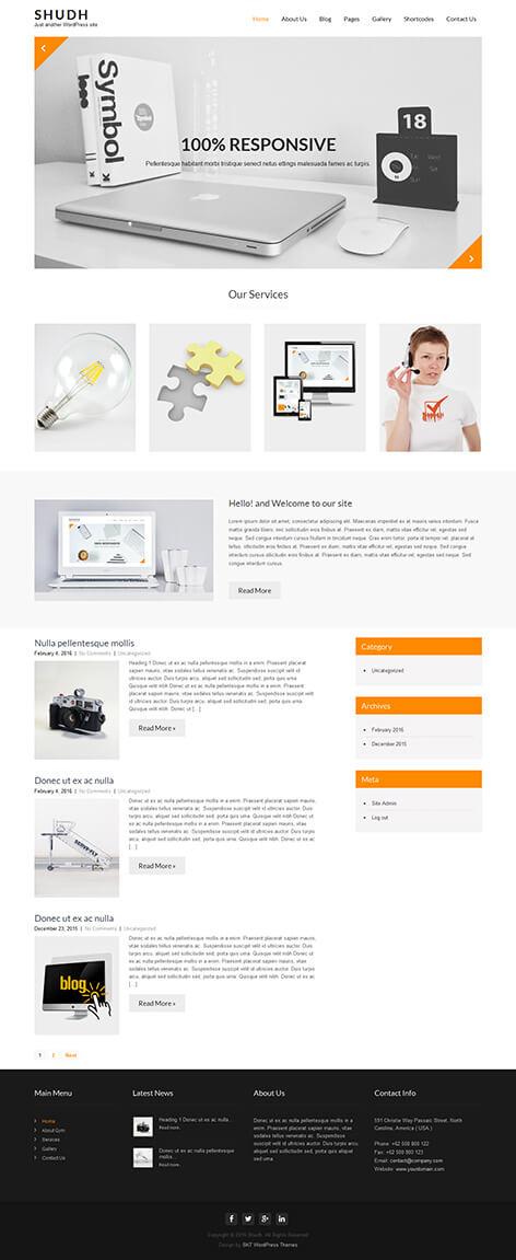 free minimal WordPress theme