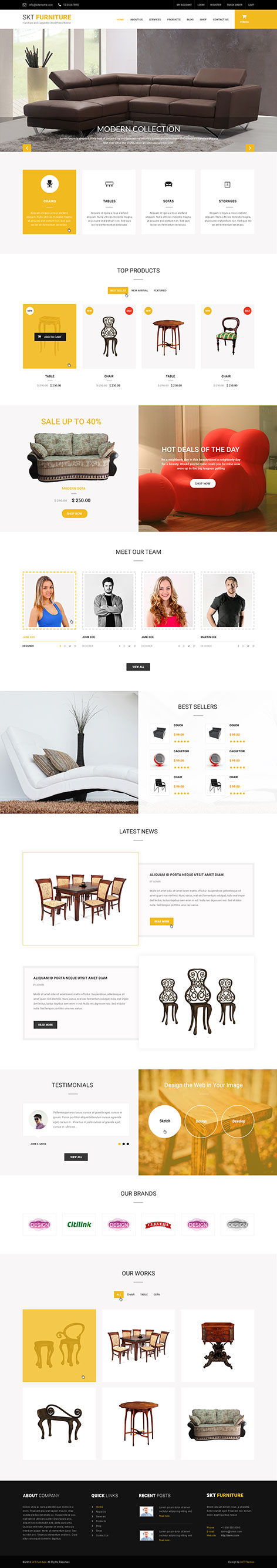 furniture and carpenter WordPress theme
