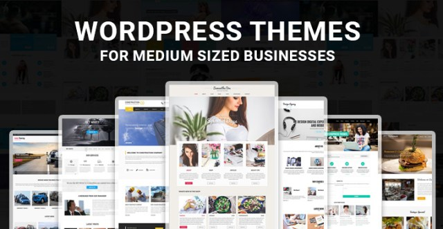 medium sized business WordPress theme