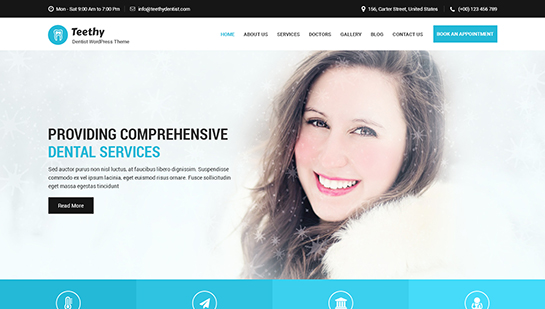 teethy WordPress theme