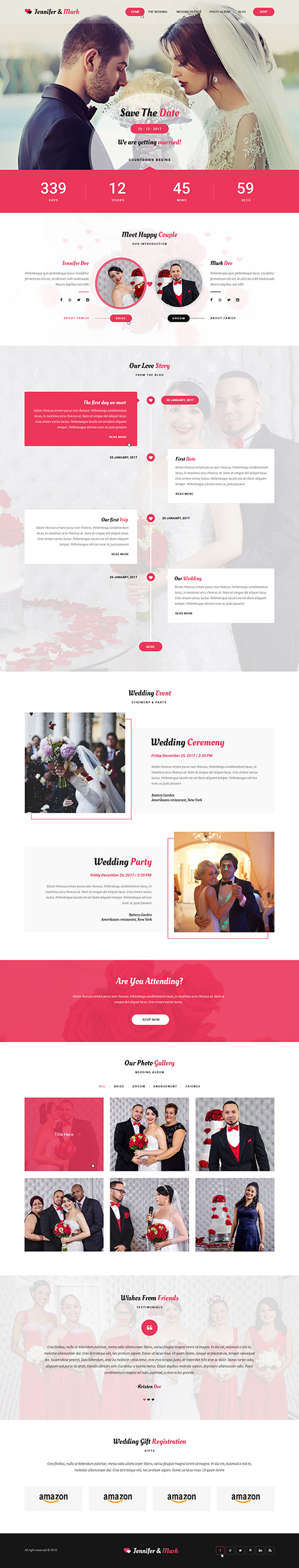 wedding agency WordPress theme