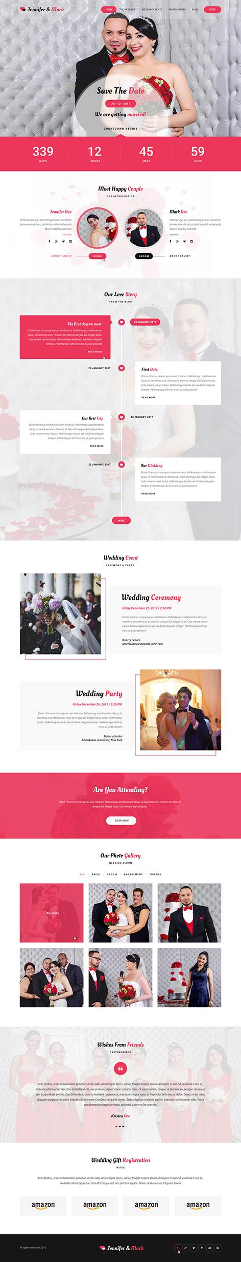 wedding photography WordPress theme